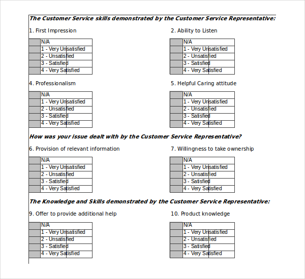 Printable Survey Templates  Survey Templates And Worksheets