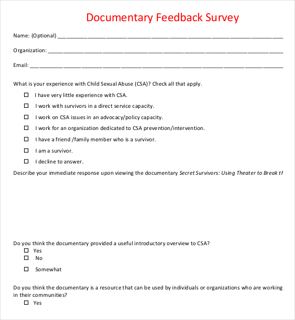 Feedback Survey Templates | Feedback Survey Template Survey Templates And Worksheets