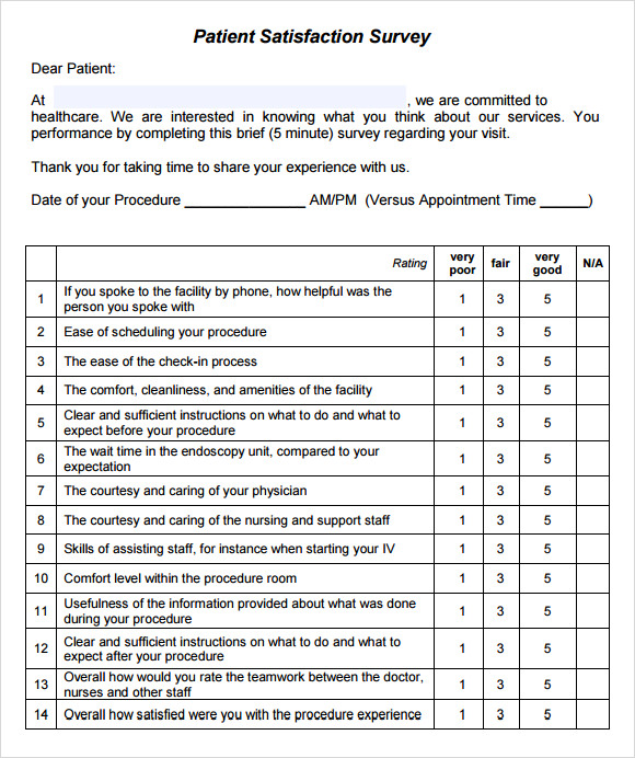 Printable Survey Template  Survey Templates And Worksheets