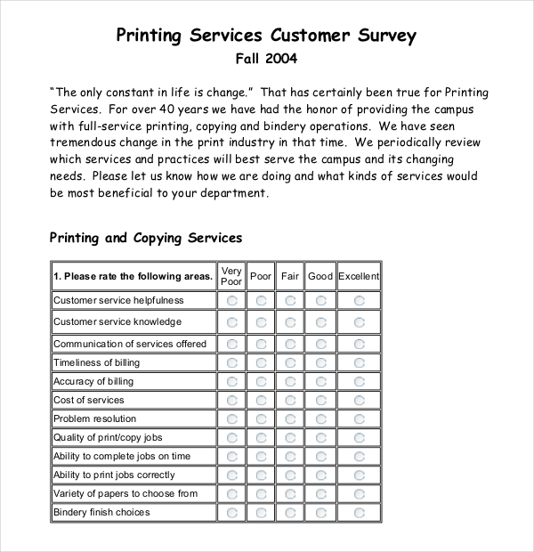 50 printable survey templates survey templates and worksheets