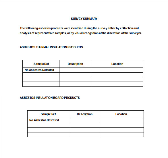asbestos-survey-template-legal-template – Survey Templates and ...