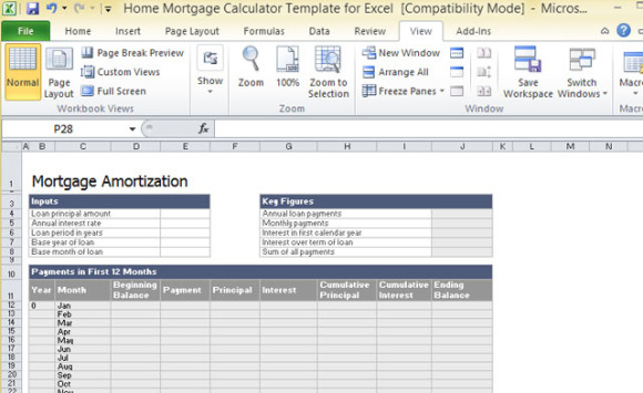 excel loan calculator