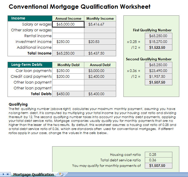 Mortgage Calculator Xls