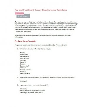 free pdf doc questionnaire template 11 survey templates and