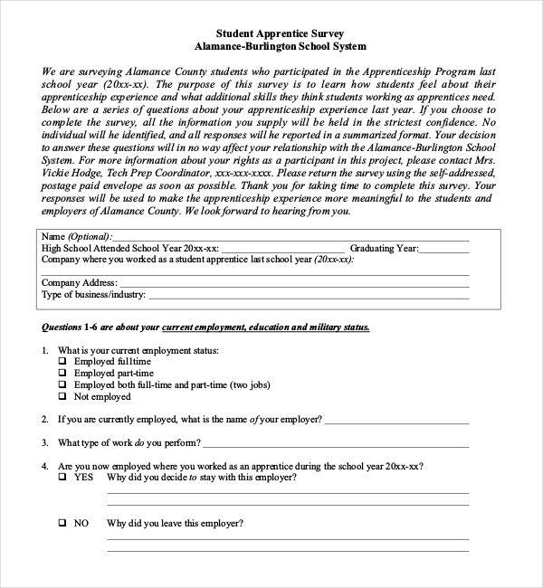 sample questionnaire on education system | Survey Templates and ...