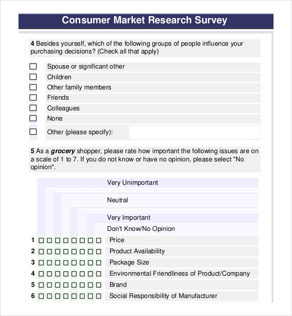 template survey templates and worksheets