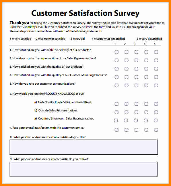 customer satisfaction surveys survey templates and worksheets