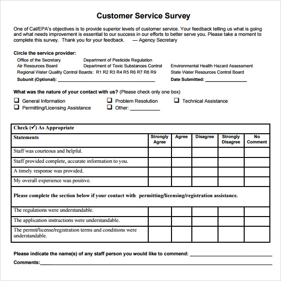 free-pdf-printable-samples-of-customer-service-surveys-survey-samples-1