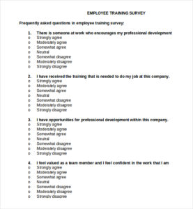 Employee-Training-Survey-Template-Document-Download-sample ...
